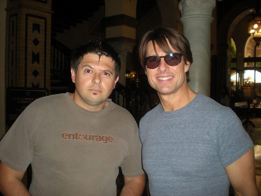 con Tom Cruise, Sevilla, 2010