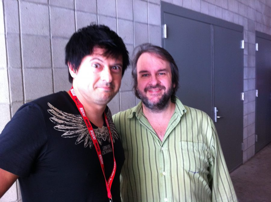 Comic Con con Peter Jackson, 2011 copia