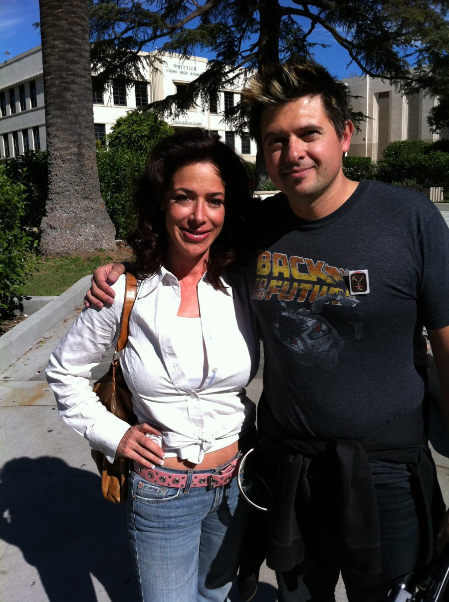 con Claudia Wells,en Hill Valley, 2010