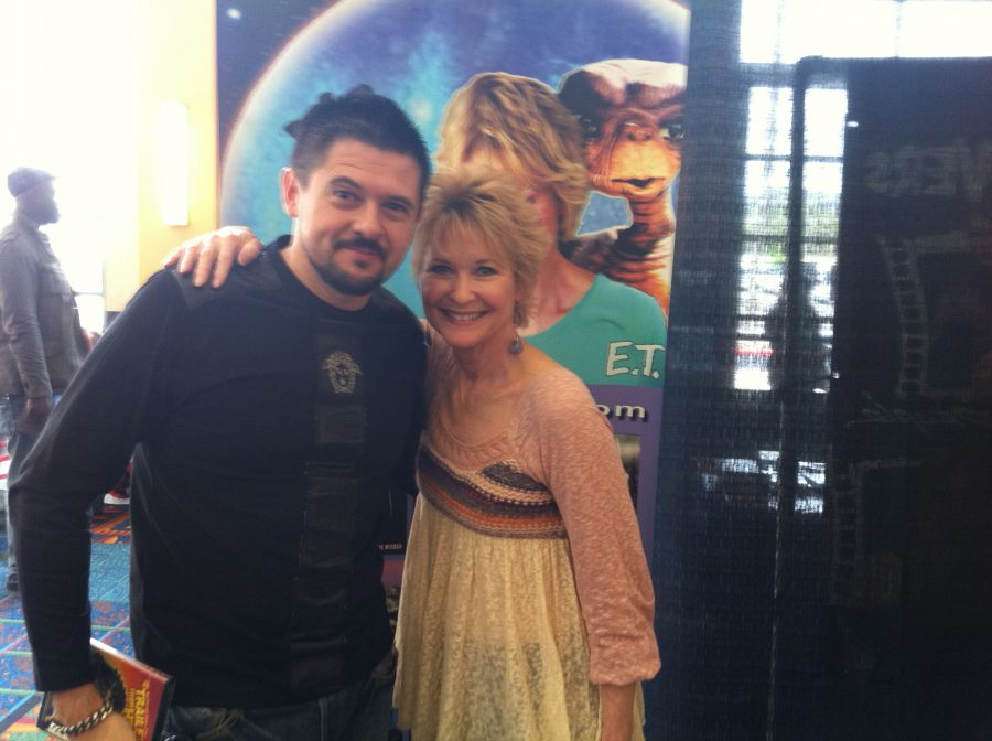 con Dee Wallace, Burbank, 2011