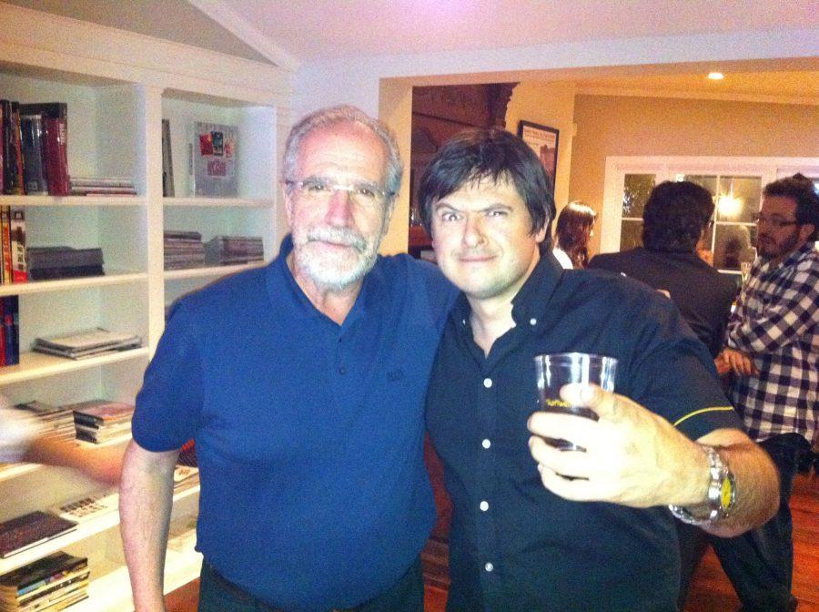con Javier Aguirresarobe, Beverly Hills, 2012