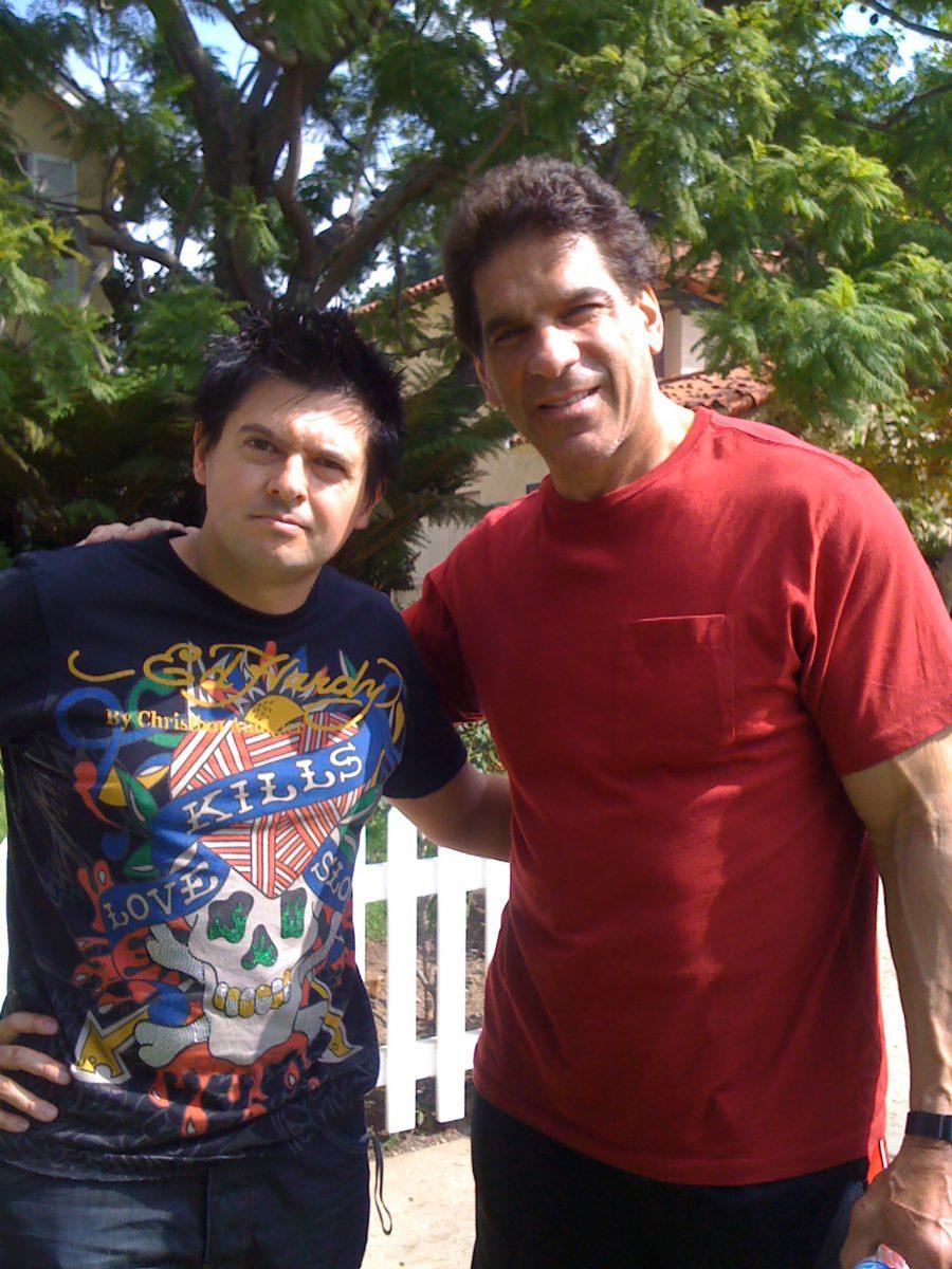 con Lou Ferringno, Santa Monica, 2009