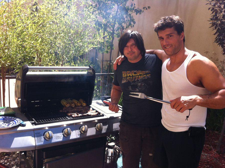 con Ramon Nomar, San Fernando Valley, 2012