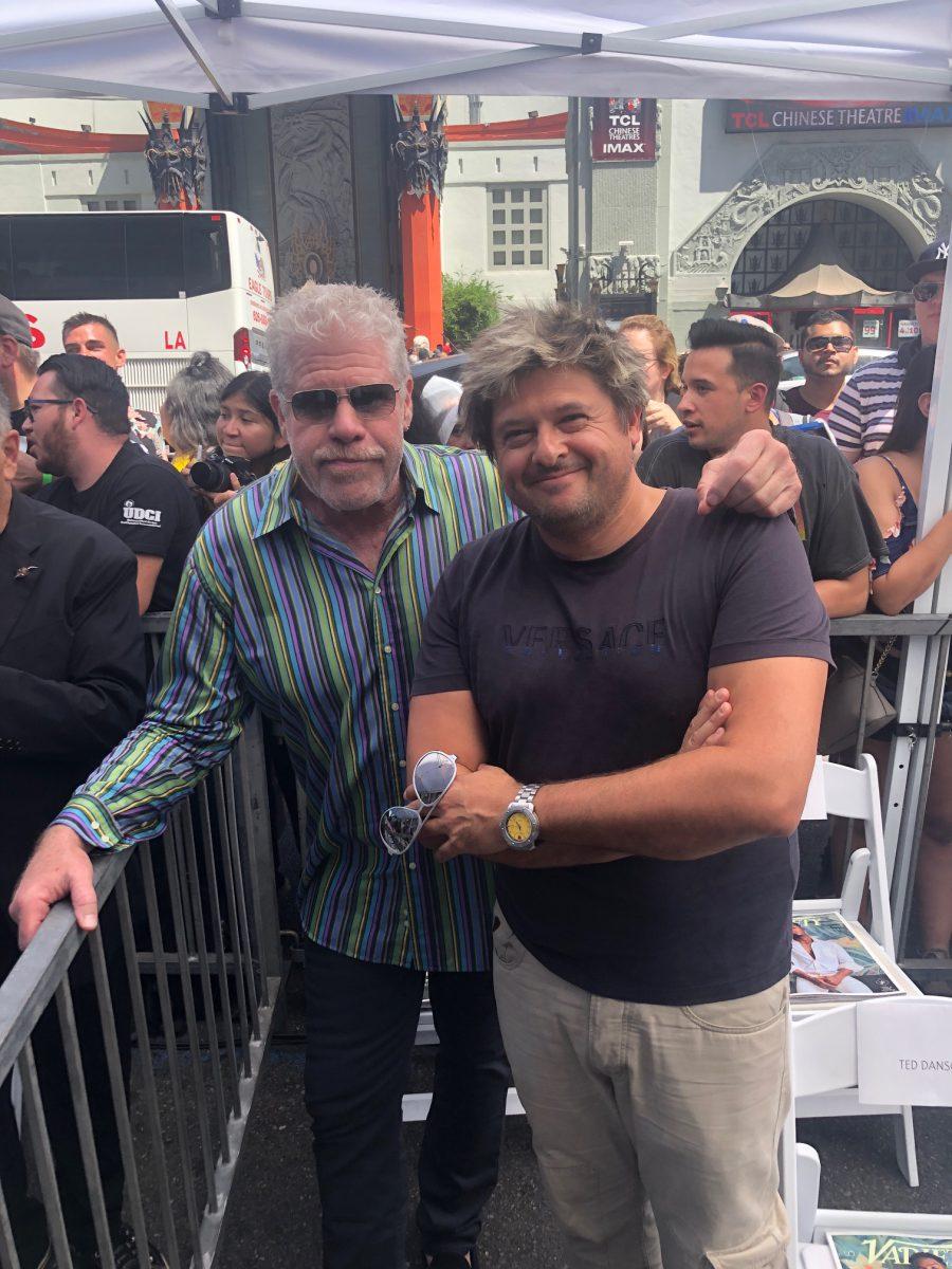Julian Lara and Ron Perlman Hellboy